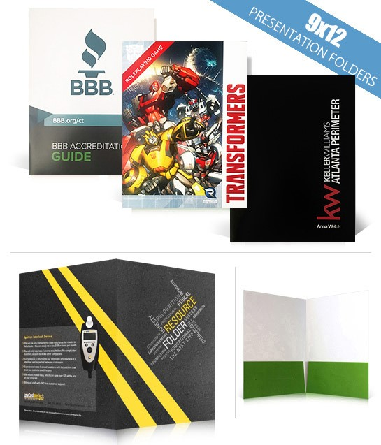 custom 9x12 presentation folders, Presentation templates